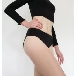 Culotte de règles, Noir, 100% coton Bio gots et oekotex100, du 32 au 54, Change Les Règles ®